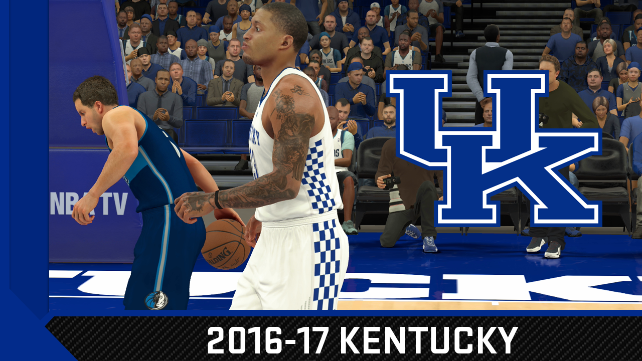 Uk Basketball: NBA 2K17 2016-17 Kentucky Wildcats Jersey & Court Tutorial