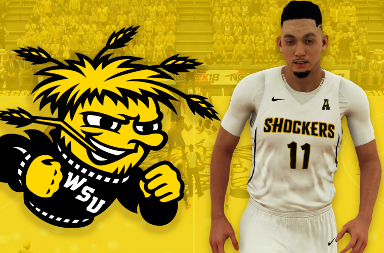 9ccc05c58b1 NBA 2K18 2017-18 Wichita State Shockers Jersey   Court Tutorial