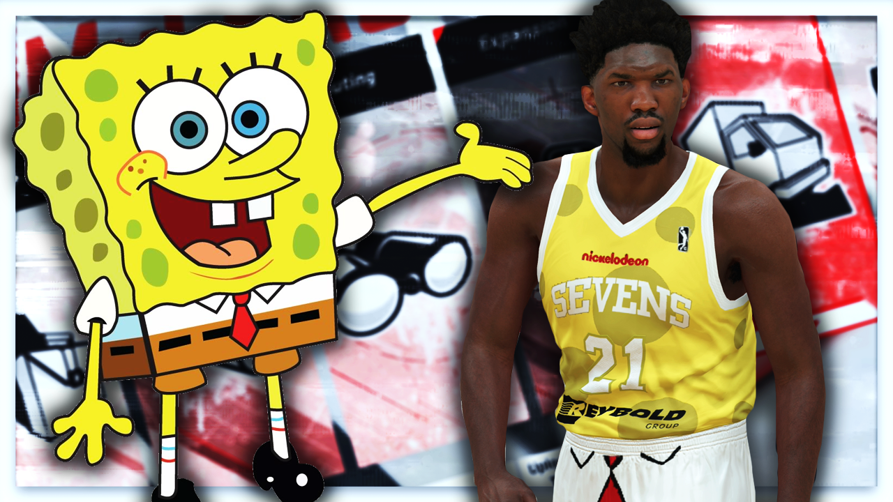 082071693 NBA 2K18 – 76ers G League Spongebob Squarepants Jersey Tutorial (Delaware  87ers) – NBA 2K19