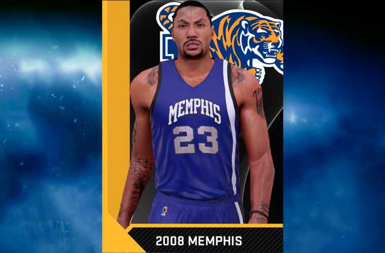 4f3358d7 NBA 2K16 2008 Memphis Tigers (Derrick Rose) Jersey & Court Tutorial